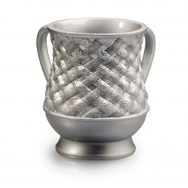Acrylic Silver plated rope design- wash cup.