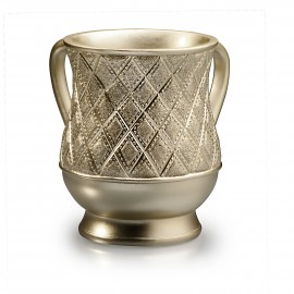 Acrylic Gold and diamonds plated  wash cup