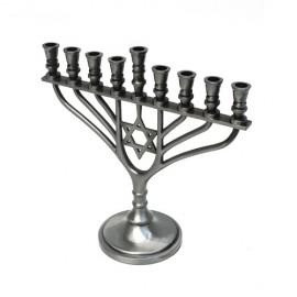 Pewter Hanukkah Menorah.