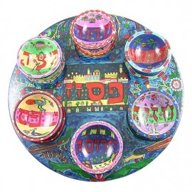 Hand Painted Original Seder Plate