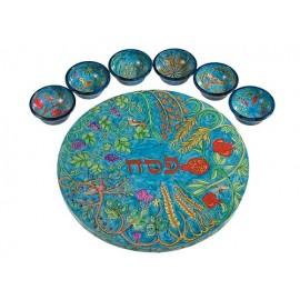 Seven Species Seder Plate - Yair Emanuel
