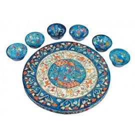Peacocks Seder Plate & Bowls - Yair Emanuel