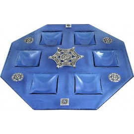 Large Octagonal Seder Plate