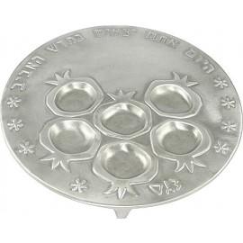 Pomegranate Seder Plate by Shraga Landesman