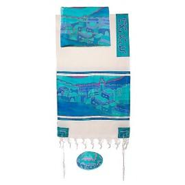 Yair Imanuel Vista In Turquoise Tallit