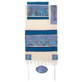 Yair Imanuel Jerusalem In Blue Tallit