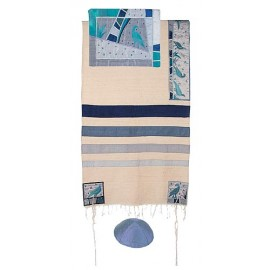 Yair Emanuel Birds Raw Silk Tallit