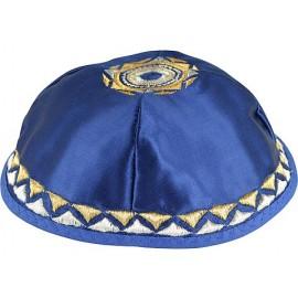 """Agam"""" Star Satin Kipah Royal Blue"""