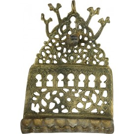 Antique Brass oil Menorah