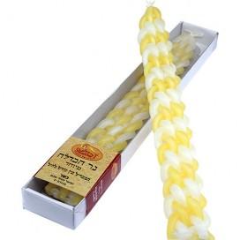 Havdalah Candles in Yellow & White