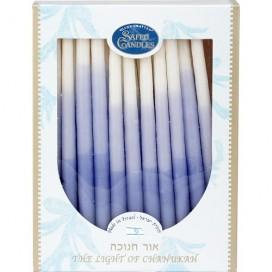 Handmade Blue & White Hanukkah Candles