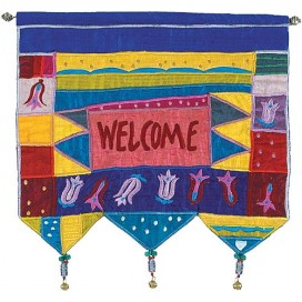 Welcome Multicolor Wall Hanging
