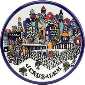 Jerusalem Wall Armenian Ceramic Hanging Plate