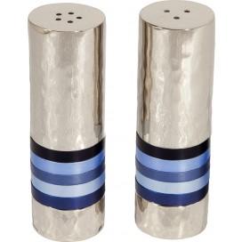 Nickel Salt & Pepper Shakers by Yair Emanuel