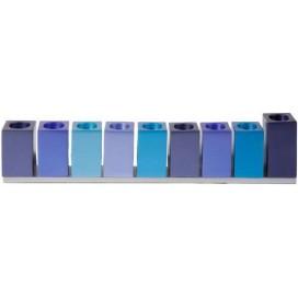 Hannukah Blocks Menorah – Blue by Yair Emanuel