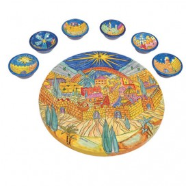 Stylish Seder plate by Yair Emanuel