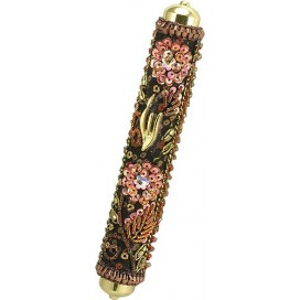 Brightly Colored Floral Mezuzah Case