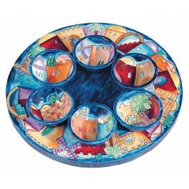 Jerusalem Seder Plate - Yair Emanuel