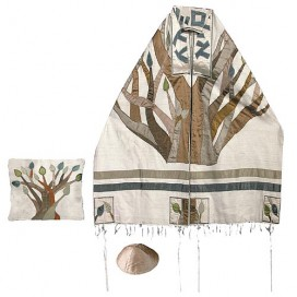 Yair Emanuel Tree of Life Raw Silk Tallit