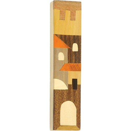 Inlay Wooden Mezuzah