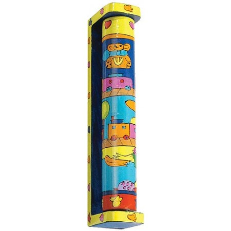 Kids Toys Rotating Wooden Mezuzah