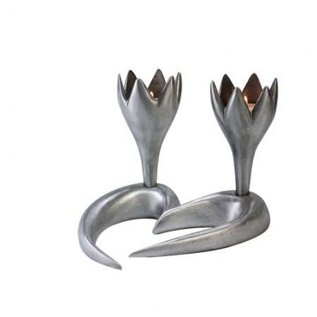 Tulip Shaped Candlestick Holders