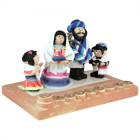 Family Hanukkah Menorah by Yigal