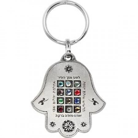 Hamsa Aaron's Breastplate Key Chain