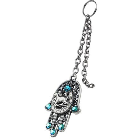 Turquoise Colored Stone Key Chain