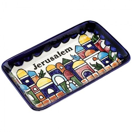 "Armenian Ceramic ""Jerusalem Wall"" Tray"