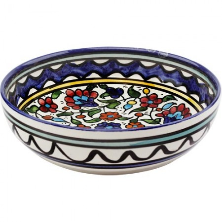 Armenian Ceramic Intricate Floral Design Bowl