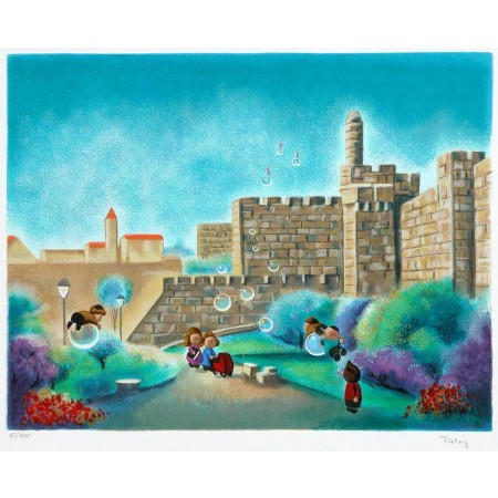 A Day in the Park  15.75x19 / 40x48cm  Serigraph  2000