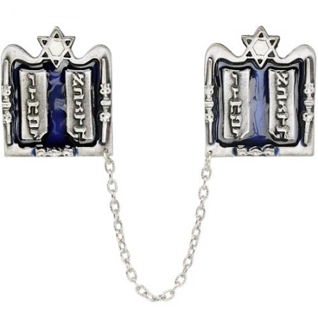Silver-plated Tablets of the Law Tallis Clips