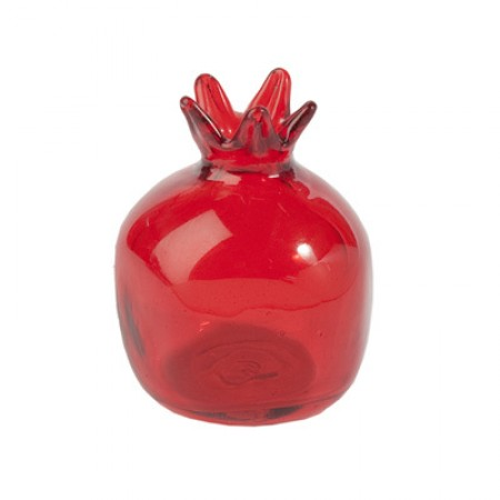 Decorative Red Glass Pomegranate by Yair Emanuel