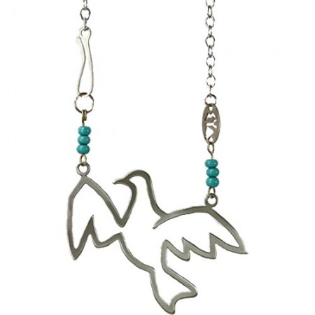 Soaring Peace Dove Necklace from Shraga Landesman
