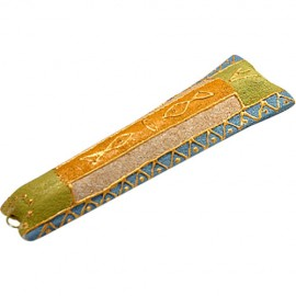 Tapered Fish Motif Sandstone Mezuzah