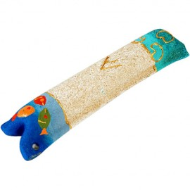 Children's Sandstone Mezuzah with Fish