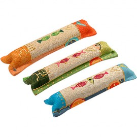 Colorful Sandstone Fish Motif Mezuzah