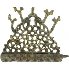 Antique Brass oil Menorah