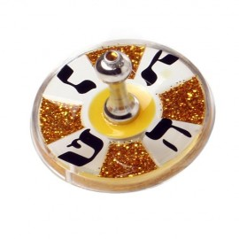 Brown, Gold and Black Acrylic Dreidel