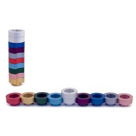 Multicolored Doughnuts Traveling Menorah by Agayof