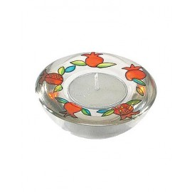 Pomegranate Glass Candle Holder