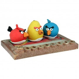 Angry Bird Hanukkah Menorah by Yigal
