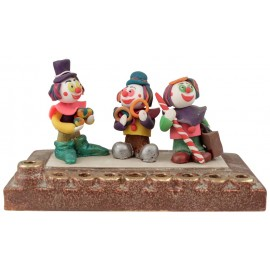 Clown Hanukkah Menorah