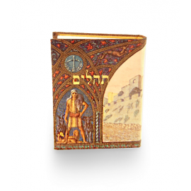Pocket size Tehilim Book / Book of Psalms  - Jerusalem Walls  (Hebrew)