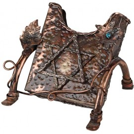 Elaborate Copper Sefer Tehilim Display Holder by Rami Zamir