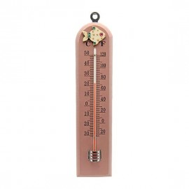 Pink Wooden Baby Fish Thermometer