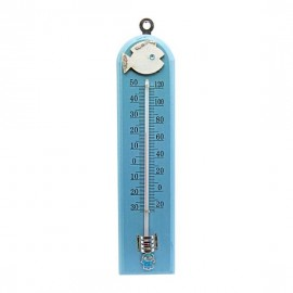 Blue Wooden Baby Fish Thermometer