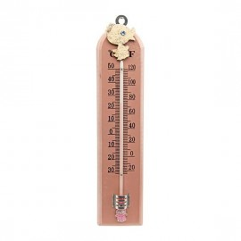 Pink Wooden Baby Whale Thermometer