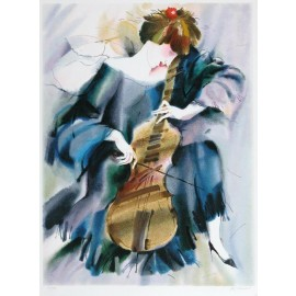 The Cellist III  27.5x38.5 / 69x98cm  Serigraph 1995